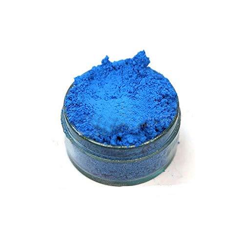 KandyDip Effektpigment NEON BLAU Blue Flourescent FLUORESZIEREND Farbpulver Pigment für Epoxidharz Autolack Sprühfolie Pigmente Aquarell Seife Powder (25 Gramm)