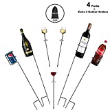 Urban Deco Heavy Duty Drink Holder Outdoor Drink Holders Drink Holder Yard Drink Holder Stakes, 4 Packs Plus Extra 3