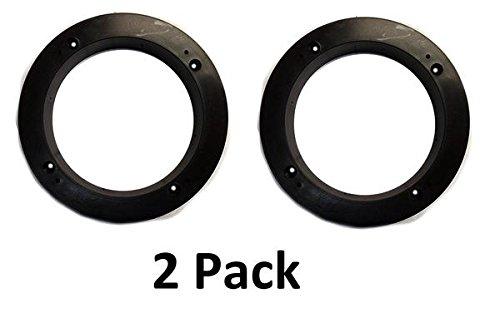 """2 Pack Black Plastic 1"""" Depth Ring Adapter Spacer for 5.25""""- 6"""" Car Speaker USA"""