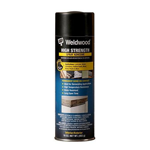 DAP 121 High Strength Spray Adhesive Raw Building Material, 16 oz, Clear