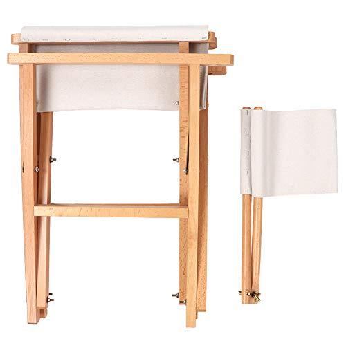 Opvouwbare canvas stoel, opvouwbare houten campingkruk Mini draagbare buiten opvouwbare canvas schets tekenstoel