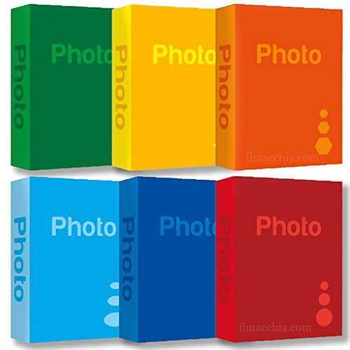 bundle 6 album da 300 foto 13x19 13x18 a tasche totale 1800 foto portafoto con etichette memo lotto da 6 album