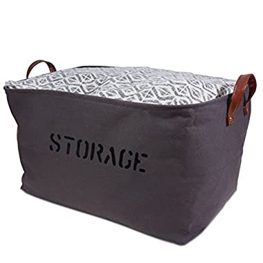 OrganizerLogic Storage Baskets 22  L x 15  x 13 H. Extra Large Woven Basket Storage for Toys, Kids, Pets, Laundry Bin- Sturdy Lightweight, and Decorative Natural Bins