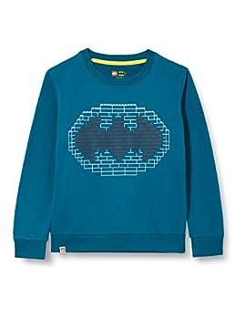 LEGO MW-Sweatshirt Batman Maillot de survtement, 790 Dark Turquoise, 152 cm Fille