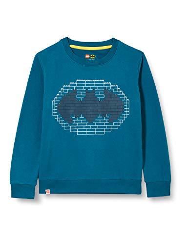 LEGO Jungen MW Batman Sweatshirt, 790 Dark Turquise, 134
