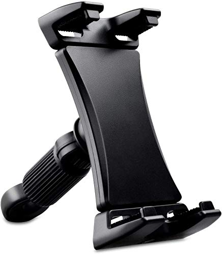 Fahrrad-Tablet-Halterung, tragbare Fahrrad-Auto-Tablet-Halterung für Innen, Fitnessstudio, Laufband, Heimtrainer für iPad, 360 Grad drehbar, für 4,7-12,9 Zoll Tablets
