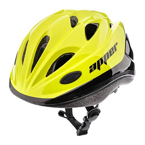 meteor Casco Bicicleta Bebe Helmet Bici Ciclismo para Niño - Cascos para Infantil - Bici Casco para Patinete Ciclismo Montaña BMX Carretera Skate Patines monopatines HB6-5 (M (52-56 cm), KS07 Green)
