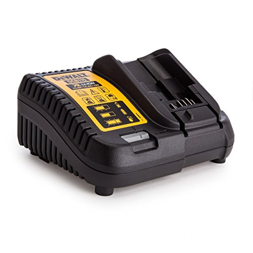 Dewalt DCB115 DEWDCB115 DCB115-GB XR Multi Voltage Li-Ion Battery Charger 10.8V, 14.4V & 18V, 230 V, Black/Yellow, One size