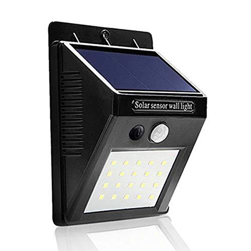 Luminária Solar Parede Sensor Presença Movimento 20 Leds 54020
