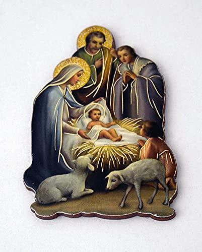 Kerststalweergave ca. 7x5cm met magneet
