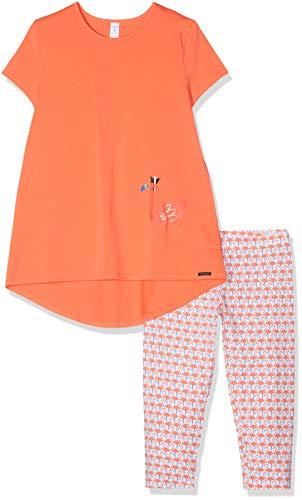 Skiny Mädchen Cosy Night Sleep Girls Pyjama 3/4 Zweiteiliger Schlafanzug, Orange (Coral Quartz 1630), 164