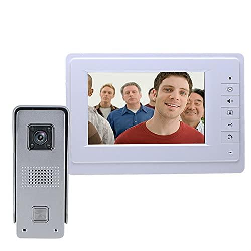 Portero Timbre de intercomunicación Visual 7 '' TFT Sistema de teléfono con Cable de Video TFT Monitor DE Interior 700TVL Abajo DE CUERTA DE CUERTAMIENTO DE CUADA IR Abajo automatico