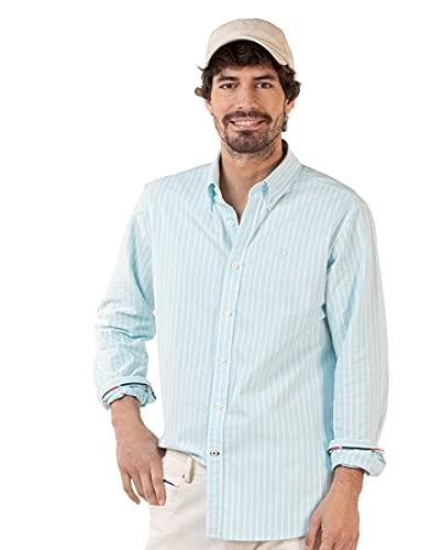 El Ganso Camisa Rayas Fondo Verde Agua