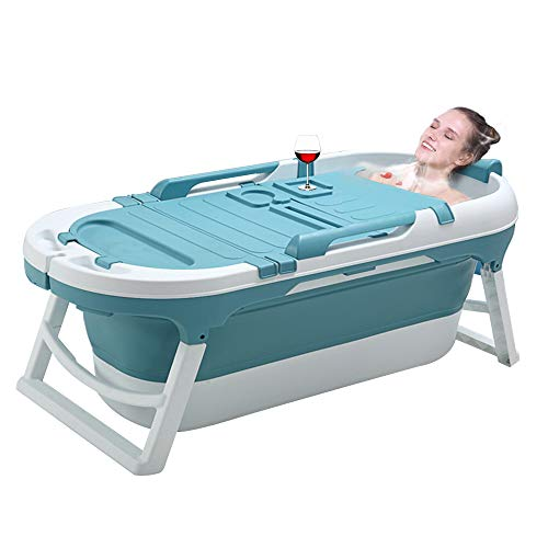 55inch Portable Bathtub for Adults and Baby,Uniex Foldable Bathtub Soaking Tub Home SPA Bathtub,Easy...