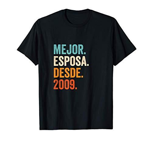 Mejor Esposa desde 2009 | 12 aniversario de boda matrimonio Camiseta