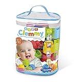 Clementoni-14889 - Soft Clemmy Bolsa 24 bloques - construcciones blanditas para bebé a partir de 6 meses