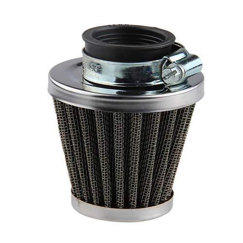 Porfeet Regenschutz, Motorradzubehör Oval Metallic Clamp-On Refit Ansaugtrichter Luftfilter 39mm