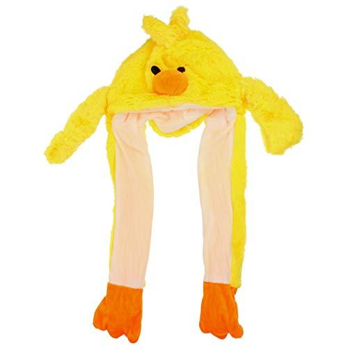 PRETYZOOM Lindo Sombrero de Pato de Piel Sinttica de Felpa con Orejas Mviles Gorra de Oreja de Salto Animal Sombrero Accesorio de Disfraz con Luces LED