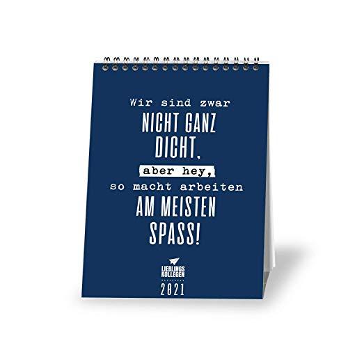 Lieblingskollegen Tischkalender 2021 - Kalender DIN A5 – Wochenkalender – schöne Bilder – mit Sprüchen - Jahreskalender – Kalender zum Aufstellen - VISUAL STATEMENTS (Best Of 2021 LK)