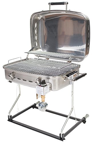 Faulkner 51323 Stainless Steel Barbecue Grille with Disposable Bottle Adapter Cooking Grills Outdoor