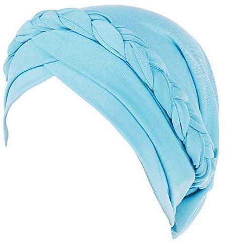 QCHOMEE Femme Bonnet Turban Extensible Bonnet de Nuit Sommeil Coton Couvre-Chef Calotte Doux Chapeau Bandeau Foulard Musulmane Mode Casquette de Perte Cheveux pour Alopécie Sortie Vacances
