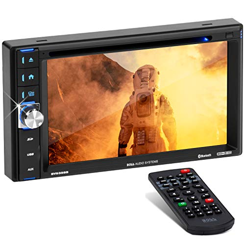 BOSS Audio BV9358B Car DVD Player – Double Din, Bluetooth Audio and Calling