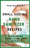 Small Size DIY Hand Sanitizer Recipes: Homemade Sanitizers for Germs