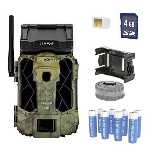 """Spypoint """"LINK-S LTE Wildkamera/Tierkamera mit eingebautem Solar-Panel und SIM-Karte für Smartphone Übertragung, Wildtierkamera mit Infrarot, 42 LEDs, 12 Megapixel"""