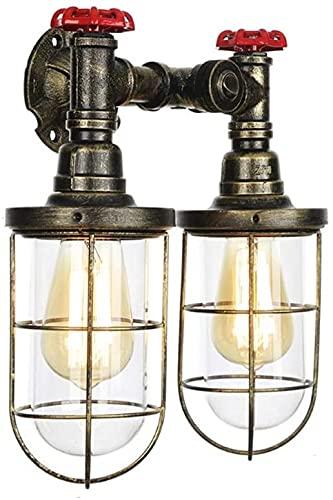 Americano quemador retro lámpara nostálgica válvula de hierro lámpara de pared estilo europeo estilo linterna sala de agua lámpara de pared lámpara de pared industrial viento corredor barra té tubo 30