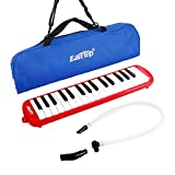 East top 32-Key Melodica, Professional Mouth Melodica Keyboard Organ Melodica Instrument for Adults, Students and Kids, As a gift, Set-Red