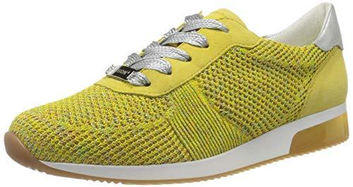 ara Damen LISSABON Sneaker, Gelb (Candy, Yellow/Weissgold 10), 42 EU (8 UK)