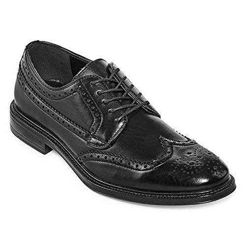 Stafford Mens Corepan Oxford Shoes Wing Tip (11) Black
