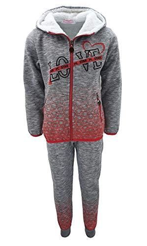 Girls Fashion MF294e - Conjunto de chándal para niña, chaqueta y pantalón...