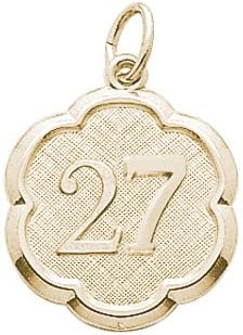 Sacramento Mall Rembrandt Charms Number 27 10K Chicago Mall Charm Yellow Gold