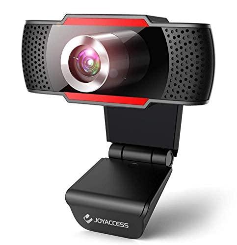 Webcam mit Mikrofon, PC Kamera mit 105° Blickfeld und Automatischer Lichtkorrektur, HD USB Kamera mit Plug und Play für Videochat und Aufnahme/ Konferenz/ Spiele, Kompatibel mit Windows 10/ Mac/ Linux