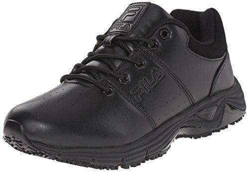 Fila Men's Memory Breach sr Low-m Walking Shoe, Black/Black/Black, 11 M US