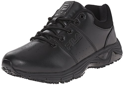 Fila Men's Memory Breach sr Low-m Walking Shoe, Black/Black/Black, 11 M US