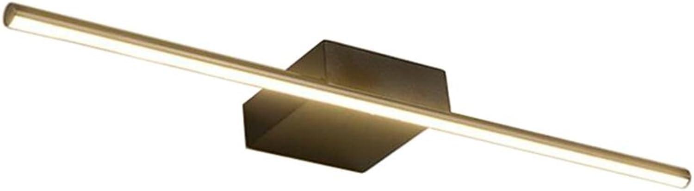 Spiegel frontleuchte LED Wasserdicht Anti-fog Badezimmerspiegel Lichter Wandleuchte Dresser Make-Up Lampe Schwarzweiss (Farbe   SCHWARZ-40cm 8w)