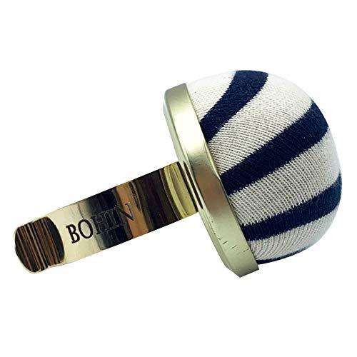 Bohin 98816 Gilt Bracelet Breton Stripe Pincushions, Multicolor