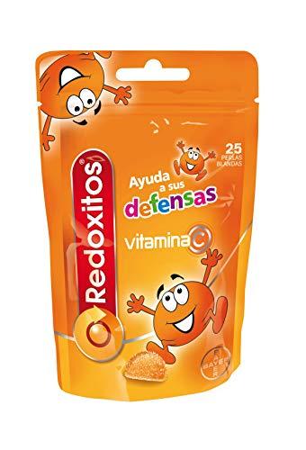 Redoxitos Vitamina C para Niños, Ayuda a Mejorar sus Defensas Inmunitarias y la Absorción de Hierro, 25 Perlas Blandas