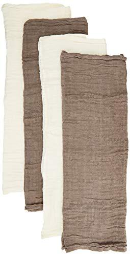 Pippi Unisex Baby 4er Pack Windeln für Spucktücher, Kuscheltücher oder Windeltücher geeignet Badebekleidungsset, Beige (Cinder 270), (Herstellergröße:65x65)