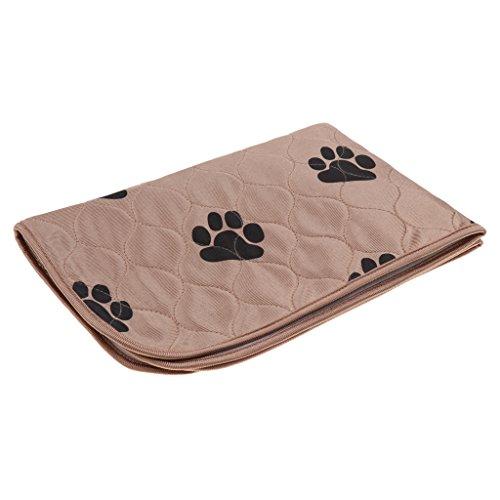 perfk Mikrofaser Saugfähige Trainingsunterlagen wasserdicht Inkontinenzunterlagen Welpenunterlagen Hundedecke für Hunde Welpen - Braun S