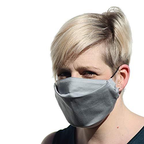 SCHMUSEWOLKE Gesichtsmaske Community Maske Behelfsmaske Alltagsmaske   waschbar   Bio Baumwolle   Urban Grey
