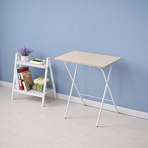 LIYG Table Pliante Table à Manger Table de Pique-Nique en Plein air Apprentissage Bureau de Lecture Moderne Petite Table Minimaliste Noir Blanc (Color : 1#)