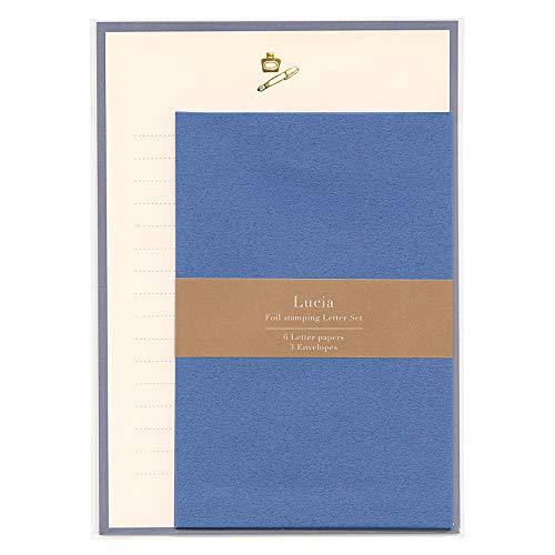 ルチア 箔押しレターセット 【ペン】 LCA-002