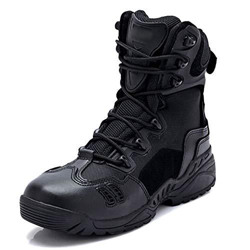 Scarpe Da Alpinismo Da Esterno Tattiche Da Combattimento Per Uomo Esercito Stivali Da Combattimento Di Martin Forze Speciali Scarpone Addestrato Con Scarpa Militare,Black-44