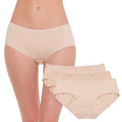 Hesta Rael - Ropa interior de algodón orgánico para mujer, 3 unidades