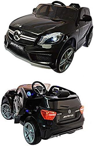 Kinderfürzeug 12V Elektroautos Kinder Elektro Auto Mercedes A45 AMG Coupe Eva Gummir r Ledersitz 2,4 GHZ Schwarz