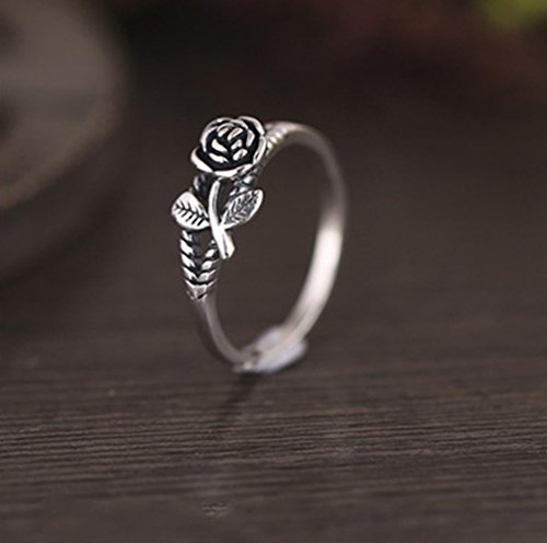 Rings for Women Fashion Elegant Creative Rose Ring Retro Ring Wedding Party Women JewelryJewelry & Watches Christmas for Faclot