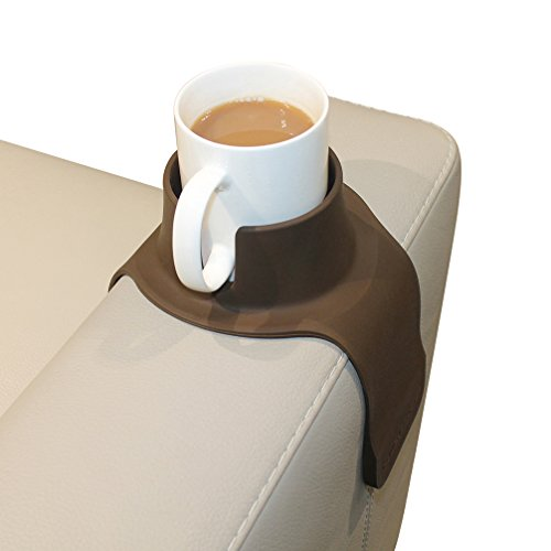 CouchCoaster - el Posavasos definitivo de Bebidas para su sofá, Marrón Moca
